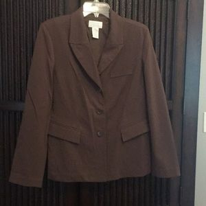 Great chocolate brown blazer EUC